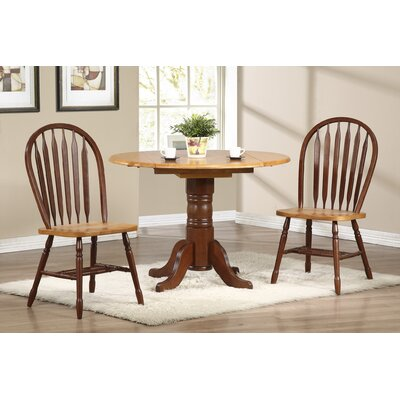 Banksville 3 Piece Dining Set Table Finish: Nutmeg Light Oak, Chair Finish: Nutmeg Light Oak