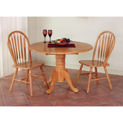 Banksville 3 Piece Dining Set Table Finish: Light Oak, Chair Finish: Light Oak