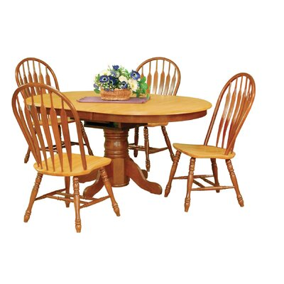 Banksville 5 Piece Dining Set Finish: Nutmeg Light Oak