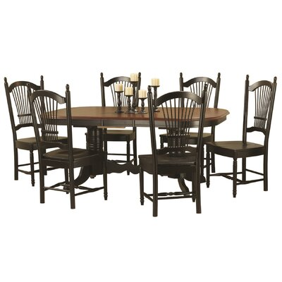 Banksville Extendable Dining Table Finish: Antique Black with Cherry