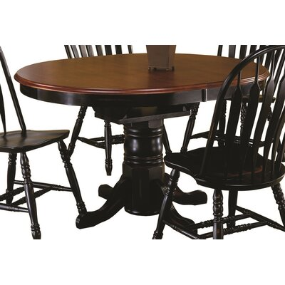 Banksville Dining Table Finish: Antique Black with Cherry