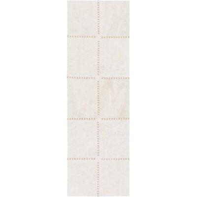 Olancha White Area Rug Rug Size: Runner 26 x 8