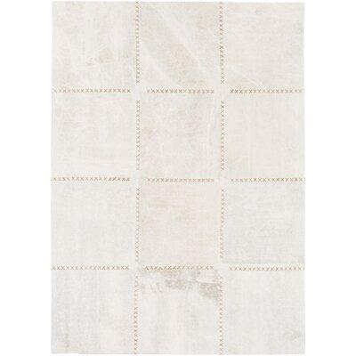 Olancha White Area Rug Rug Size: 4 x 6