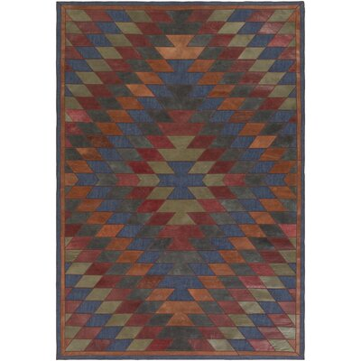 Tanaga Hand-Crafted Area Rug Rug size: Rectangle 5 x 8