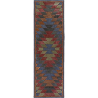Tanaga Hand-Crafted Area Rug Rug size: Runner 26 x 8