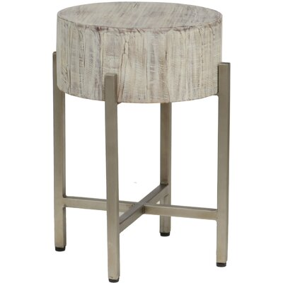 Diamond Hill End Table Color: White