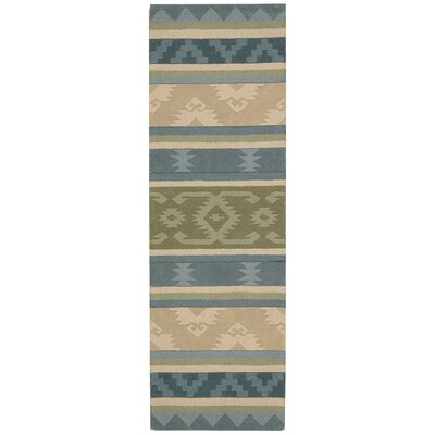 Atna Blue/Green Area Rug Rug Size: 5 x 8
