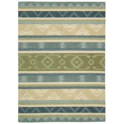 Atna Hand-Tufted Blue/Green Area Rug