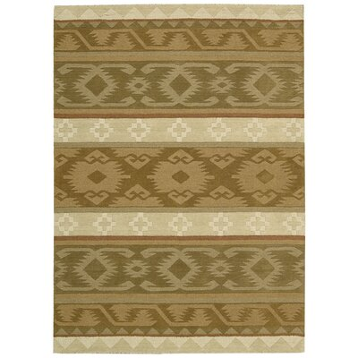 Atna Hand-Tufted Camel Area Rug Rug Size: 5 x 8