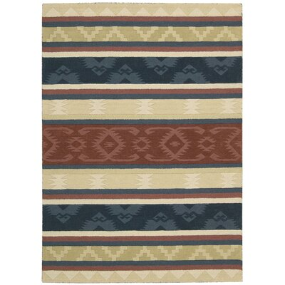 Atna Red/Blue Area Rug Rug Size: Rectangle 3'6