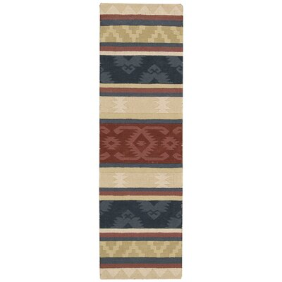 Atna Red/Blue Area Rug Rug Size: Runner 23 x 76