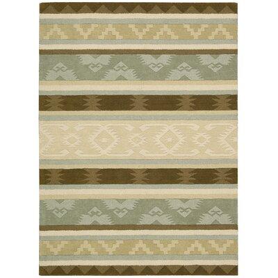 Atna Hand-Tufted Sage Area Rug Rug Size: 5 x 8