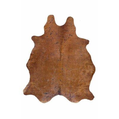 Altoona Cowhide Hand Made Watters Brown Area Rug