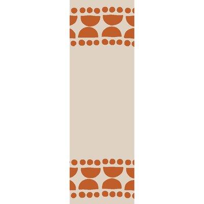 Gabb Hand-Woven Terracotta/Ivory Area Rug Rug size: Runner 26 x 8