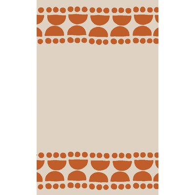 Gabb Hand-Woven Terracotta/Ivory Area Rug Rug size: 5 x 8