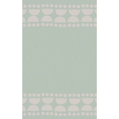 Gabb Hand-Woven Sea Foam/Light Gray Area Rug Rug size: 2 x 3