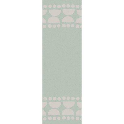 Gabb Hand-Woven Sea Foam/Light Gray Area Rug Rug size: Runner 26 x 8