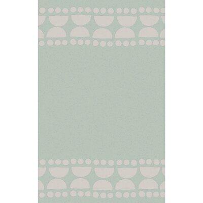 Gabb Hand-Woven Sea Foam/Light Gray Area Rug Rug size: 5 x 8