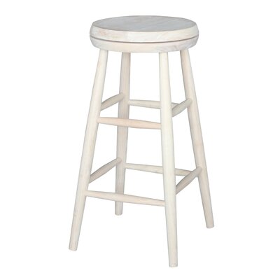 Fillmore 30 inch Swivel Bar Stool Seat Color: White
