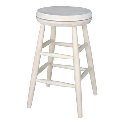 Fort Jones 24 inch Swivel Bar Stool Seat Color: White