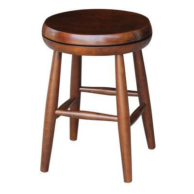 Fortuna 18 inch Swivel Bar Stool Seat Color: Espresso