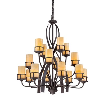 Colby 16-Light Shaded Chandelier