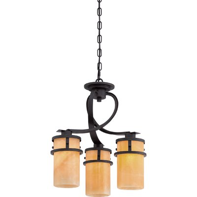 Colby 3-Light Shaded Chandelier Finish: Imperial Bronze