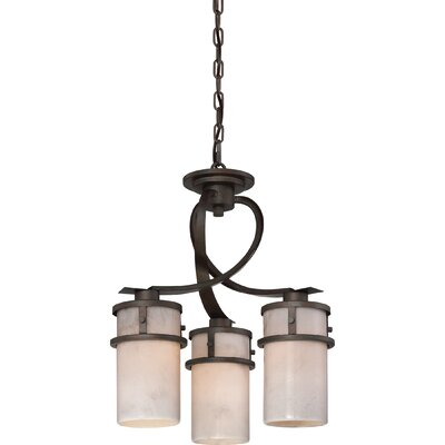 Colby 3-Light Shaded Chandelier Finish: Iron