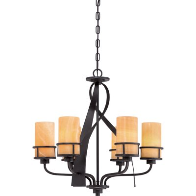 Colby 6-Light Shaded Chandelier Finish: Imperial Bronze