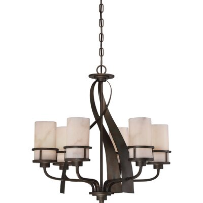 Colby 6-Light Shaded Chandelier Finish: Iron