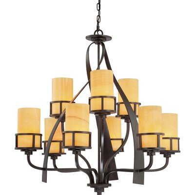 Colby 9-Light Shaded Chandelier