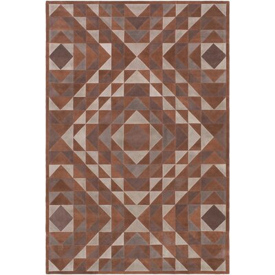 Milagros Hand-Crafted Camel/Brown Area Rug Rug size: Rectangle 4 x 6