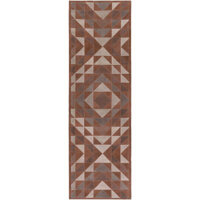 Milagros Hand-Crafted Camel/Brown Area Rug Rug size: Runner 26 x 8