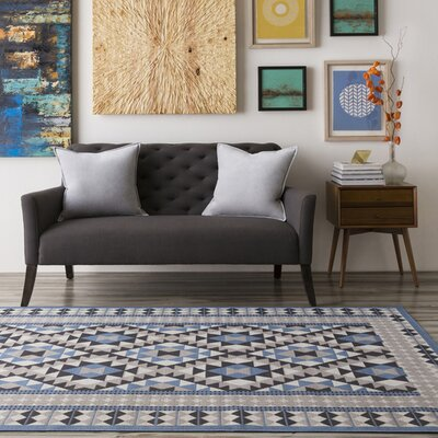 Agosto Navy Area Rug Rug size: Rectangle 68 x 98