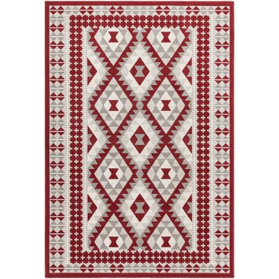 Alturas Dark Red Area Rug Rug size: Runner 28 x 5