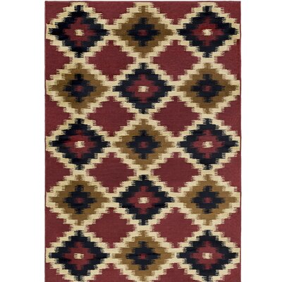 Amur Red/Beige Area Rug Rug Size: Rectangle 111 x 33