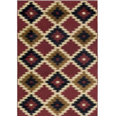 Amur Red/Beige Area Rug Rug Size: Rectangle 710 x 1010