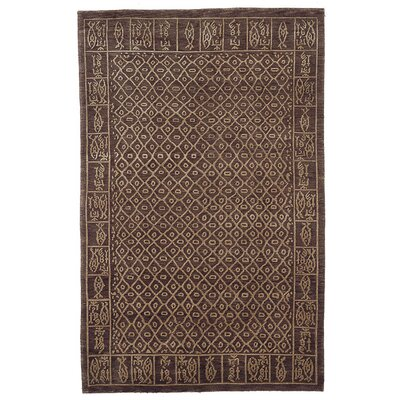 Cedrick Hand-Knotted Brown Area Rug