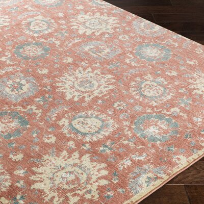 Grandview Orange Area Rug Rug Size: 110 x 211