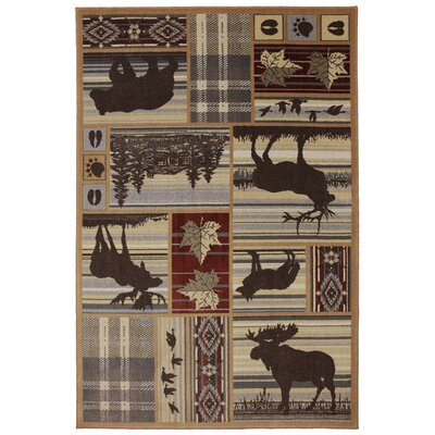Atlas Cove Hunter Delight Brown Area Rug