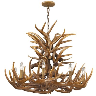 Brassie 9-Light Candle-Style Chandelier
