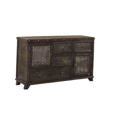 Campbell Hill 4 Drawer Combo Dresser Finish: Dark Gray