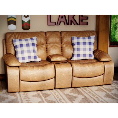 Simmons Upholstery El Capitan Double Motion Console Reclining Sofa