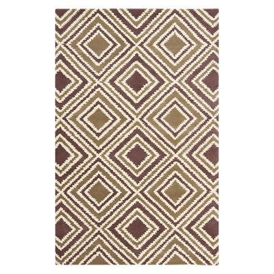 Benge Mulled Wine Beige/Navy Area Rug Rug Size: Rectangle 9 x 13