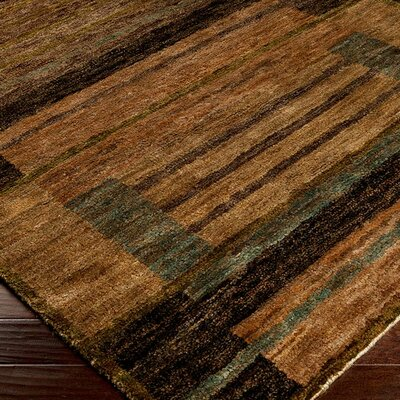 Croslin Beige & Brown Rug Rug Size: Runner 26 x 8