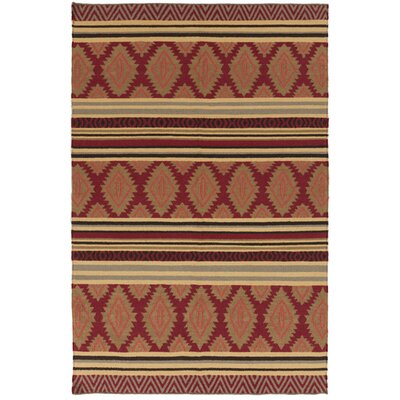 Charleville Redwood/Pale Gold Geometric Area Rug Rug Size: Rectangle 8 x 11