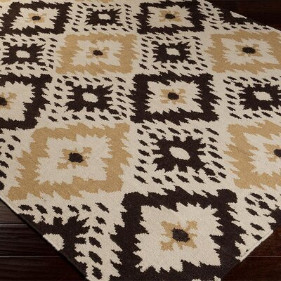 Charleville Cumin/Espresso Floral and Plants Area Rug Rug Size: Rectangle 5 x 8