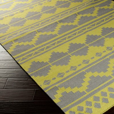 Charleville Gold/ Yellow Geometric Area Rug Rug Size: 5 x 8