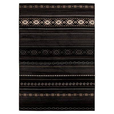 Belvedere Black Area Rug Rug Size: Rectangle 53 x 76