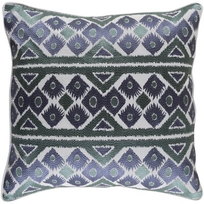 Cedro Cotton Throw Pillow Size: 20 H x 20 W x 4 x D, Color: Navy/Teal